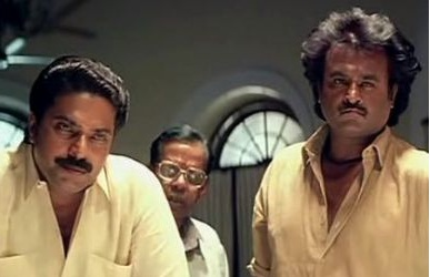 Rajnikanth and Mammootty in Thalapathy