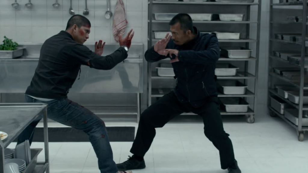 Raid 2 fight in the kitchen